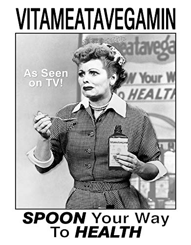 Desperate Enterprises I Love Lucy - Vitameata Tin Sign, 12.75