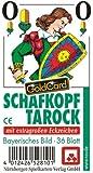 Nürnberger-Spielkarten 05219910501 - Schafkopf Extra Classic Tarockkarten mit extragroßen Eckzeichen, bayerisches Bild im Klarsichtetui, 36 Blatt