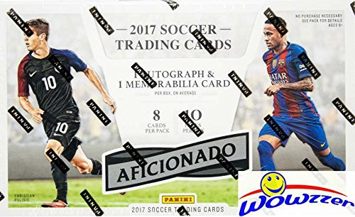 2017 Panini Aficionado Soccer Factory Sealed HOBBY Box with AUTOGRAPH,MEMORABILIA, 5 Inserts & 10 Parallels! Look for Autographs of Ronaldo, Pele, Neymar, Christian Pulisic, Maradona & More! WOWZZER! - Sequentially Numbered Limited Edition