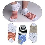 SUSocks 3 Pair Liner Cotton Mens Socks Ankle Socks Low Cut Best Non Slip