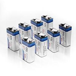 EBL 600mAh 9 Volt Li-ion Rechargeable 9V...
