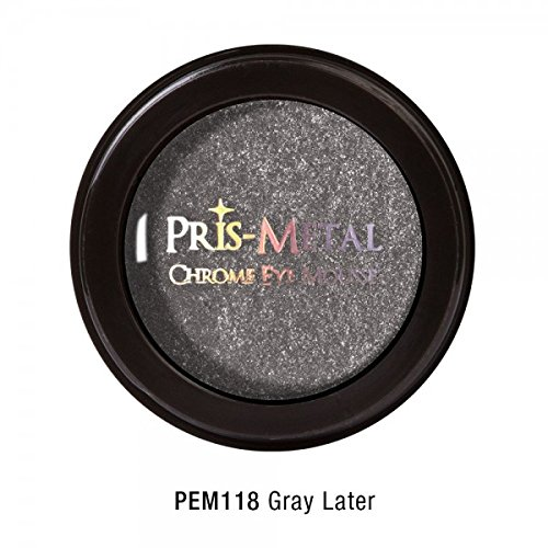 Shadow Pots Eye Mousse (J. Cat Pris-Metal Chrome Eye Mousse Eye Shadow Creamy 18 Colors Avilable Shimmer (PEM118 Gray Later))