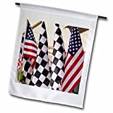 3dRose fl_90263_1 Indiana Indianapolis Motor Speedway Flags US15 Bja0027 Jaynes Gallery Garden Flag, 12 by 18-Inch