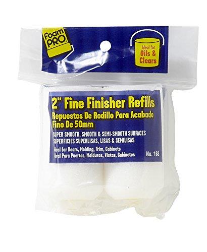 Refill Enamel (FoamPRO 163 Fine Finish Roller Refills (High-Density Foam) (2 Pack), 2