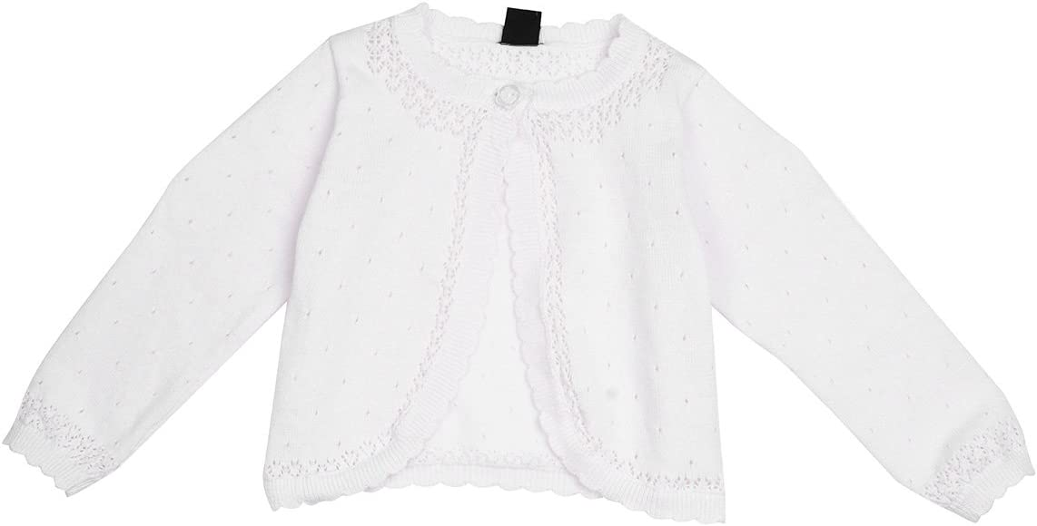 Baby Girls Knitted Bolero Cardigan by Dandelion 3-6 Months, White