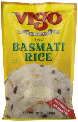 Vigo Basmati Rice, 12-Ounce Pouches (Pack of 12) by VIGO