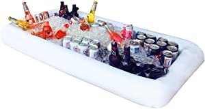 Large Size Inflatable Ice Serving Buffet Bar with Drain Plug, Salad Food & Drinks Tray for Party Picnic & Camping, 1305013cm