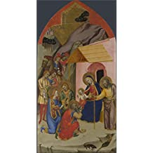 Oil Painting 'Jacopo Di Cione And Workshop The Adoration Of The Kings ' Printing On High Quality Polyster Canvas , 16 X 31 Inch / 41 X 78 Cm ,the Best Study Gallery Art And Home Gallery Art And Gifts Is This Cheap But High Quality Art Decorative Art Decorative Prints On Canvas