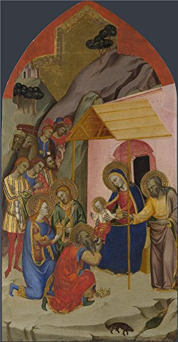 Praying Mantis Costume For Sale (The Polyster Canvas Of Oil Painting 'Jacopo Di Cione And Workshop The Adoration Of The Kings ' ,size: 30 X 57 Inch / 76 X 146 Cm ,this Beautiful Art Decorative Canvas Prints Is Fit For Kids Room Decoration And Home Decor And Gifts)