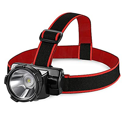 AVANTEK LED Headlamp with Durable Rechargeable Batteries, IP55 Waterproof Headlight for Running, Camping, Hiking, Fishing and Hunting