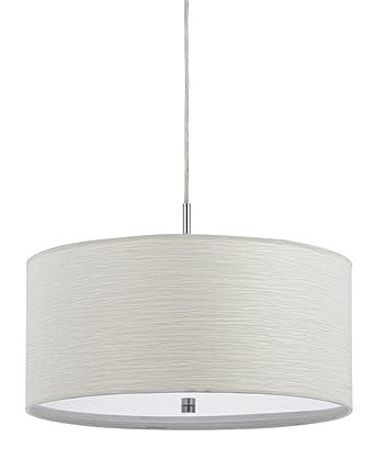 cal lighting fx35241p 100watt nianda pendant fixture with fabric shade - Cal Lighting