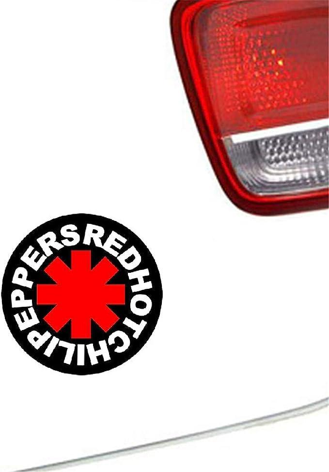 Auto Aufkleber Red Hot Chili Peppers Auto Aufkleber Auto Lkw Fenster Auto Usa Konzert Musik Zubehör 13x13 Cm Für Auto Laptop Fenster Aufkleber Baumarkt