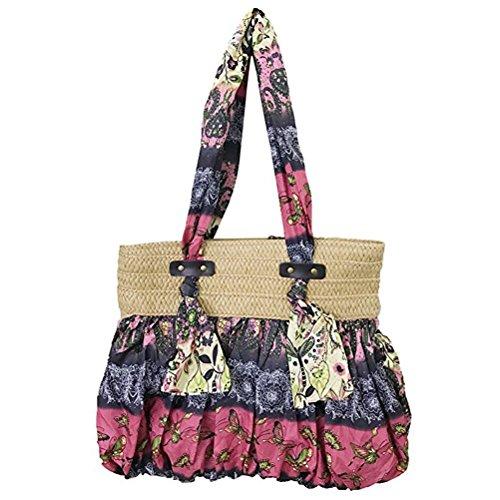 Woven Straw Beach Bag Floral Bags Pl Bohemia Shoulder Donalworld Summer Fq7tOwn