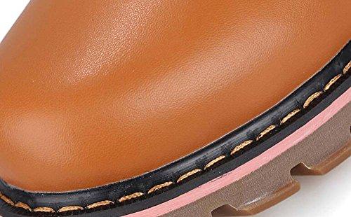 Hommes Martin Bottes Desert Bottes Retro Round Toe Lace-up Tall Bootie Outillage Bottes Coton Chaussures Eu Taille 38-44 Brown plush VgtvO