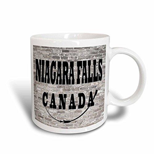 3dRose RinaPiro - Cities around the World - Niagara Falls. Canada. Brick wall. - 11oz Mug - Outlets Niagara One Canada