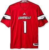NCAA Louisville Cardinals Adult Men Premier Football Jersey, 3X-Large, Black