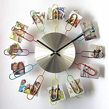 Amazon.com: Metal Art Clock, Timelike DIY Wall Clock Modern Design ...