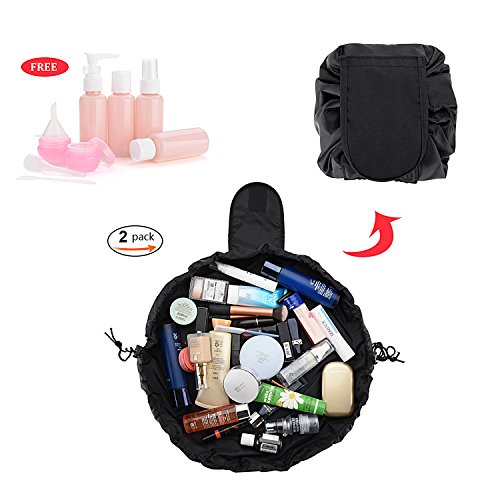 HYCC Lazy Cosmetic Bag Portable Waterproof Large Capacity Ma