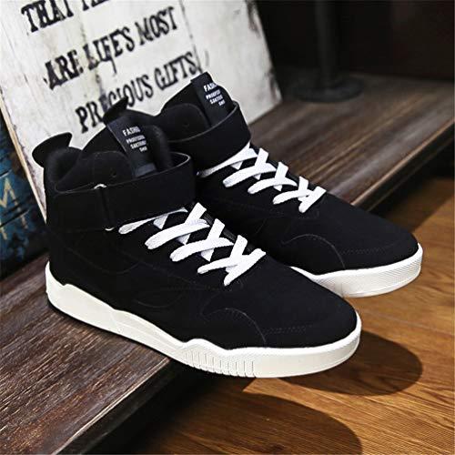 Encaje Hasta Aire Superior Caminar Zapatos Alta De Entrenadores Al Libre Botas Hombres Moda Para Casual Negro Sport Tobillo ZFvznq