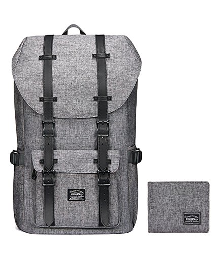 Laptop Outdoor Backpack, Travel Hiking& Camping Rucksack Pack, Casual Large College School Daypack, Shoulder Book Bags Back Fits 15