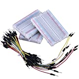 eBoot 3 Pieces 400-Point Solderless Circuit Breadboard with 65 Pieces M/ M Flexible Breadboard Jumper Wires