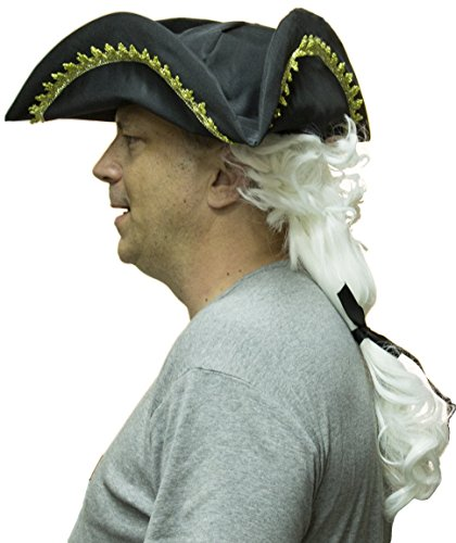 In Times Wigs Colonial (Colonial Hat with Wig)