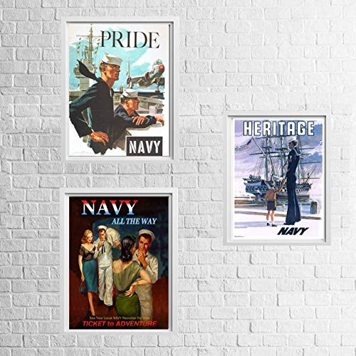 Navy Wwii Photo - Vintage Navy Recruitment Poster Set-