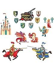 Knights Muurstickers Decal Dragon Eenhoorn Art Decoratie voor Kids Slaapkamer Kwekerij Woonkamer