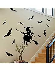 Removable Halloween Window Decoration Witch Wall Stickers