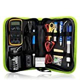 [2018] ALL NEW - All-In-One Soldering and Multimeter kit for Electronic Testing, 60W Adjustable Temperature Welding Tool, 5pcs Soldering Tips, Desoldering Pump, Soldering Iron Stand, Tweezers