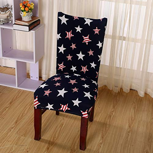 TANGOGO 1 Pc Spandex Elastic Floral Print Plant Removable Chair Covers Dustproof Stretch Wedding Banquet Dining Slipcover Seat Cover ()