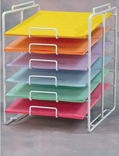"New Retail 6-tier Paper Rack Display Holds up to 100 Sheets Per Slot 12"" X 12"""