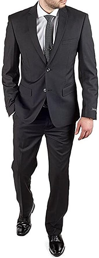 Blue Velvet Best Men Suits Black Peak Lapel 2 Piece Men/'s Wedding Groom Tuxedos+
