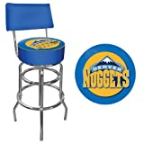 NBA Denver Nuggets Padded Swivel Bar Stool with Back