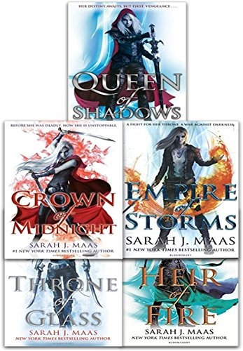 Throne Of Glass Series Collection 5 Books Set By Sarah J. Maas (Throne of Glass, Crown of Midnight, Heir of Fire, Empire of Storms, Queen of - Book Mass Set