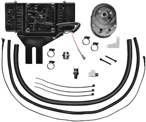 Jagg Oil Coolers Horizontal Low-Mount 10 Row Fan-Assisted Oil Cooler Kit - Black 751-FP2500 ()