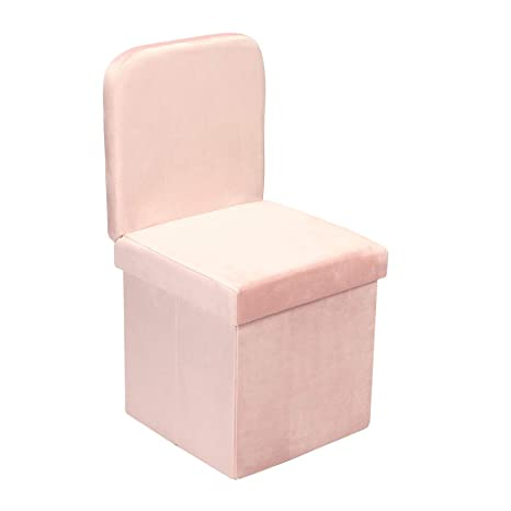 Surprising B Fsobeiialeo Velvet Storage Ottoman With Seat Back Folding Vanity Chair For Living Room Space Saving Room Organizer Cubes Toy Chest Storage Cubes Alphanode Cool Chair Designs And Ideas Alphanodeonline