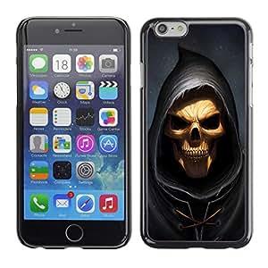 LECELL--Funda protectora / Cubierta / Piel For iPhone 6 -- Cráneo Parca --