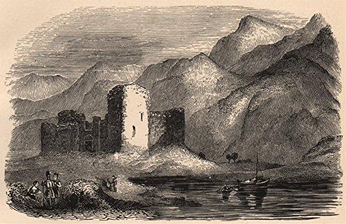 INVERNESS-SHIRE. Inverlochy Castle. Scotland - 1885 - old print - antique print - vintage print - Scotland art prints - Inverlochy Castle