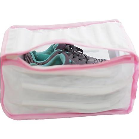 Bolsa de nylon para lavar las zapatillas de deporte en la lavadora.