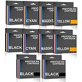 Prestige Cartridge BrotherLC123 - Pack de 10 cartuchos de tinta con chip, tricolor y negro