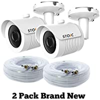 Lot of 2 Samsung Compatible Security Camera Replacement for SDC-7340BC, New with Cable, by STOiC
