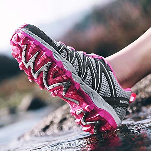 Printemps Été Lacées Confortable Chaussures Gris Randonnée Femme Et Respirant Insun Plates Sport De Imperméable wzgIvY