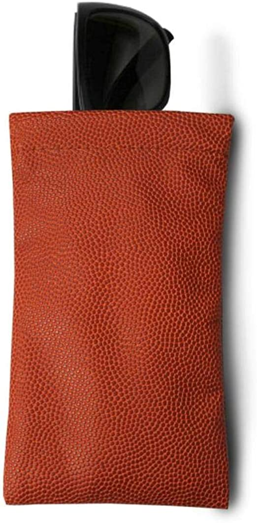 Stylish sleeve protection for your glasses during travel Zumer Sport Basketball Leather Soft Sunglasses Case Pouch Made from actual ball material Orange