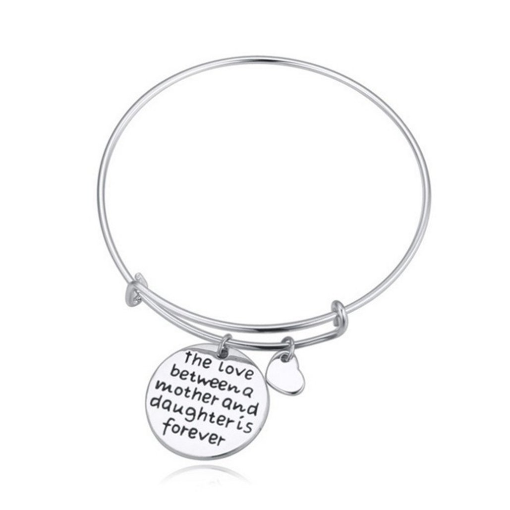 Greed Land Classic Boutique English Words Bracelet for Love Between Mother /& Daught