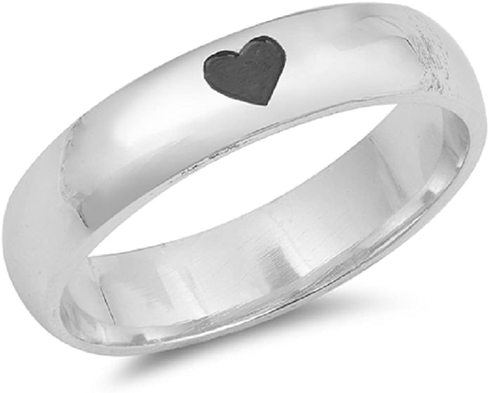 Princess Kylie 925 Sterling Silver Hearts and Flowers Ring
