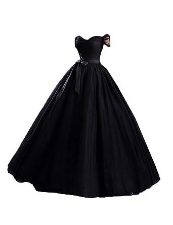 aa18d025f2f Stillluxury Tulle Off Shoulder Long Evening Gowns Weddings Plus Size Formal  Dresses Women Prom EV4  Amazon.co.uk  Clothing