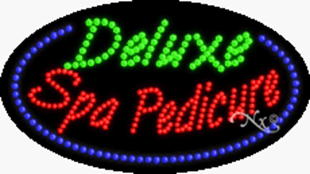 15x27x1 inches Deluxe Spa Pedicure Animated Flashing LED Window Sign