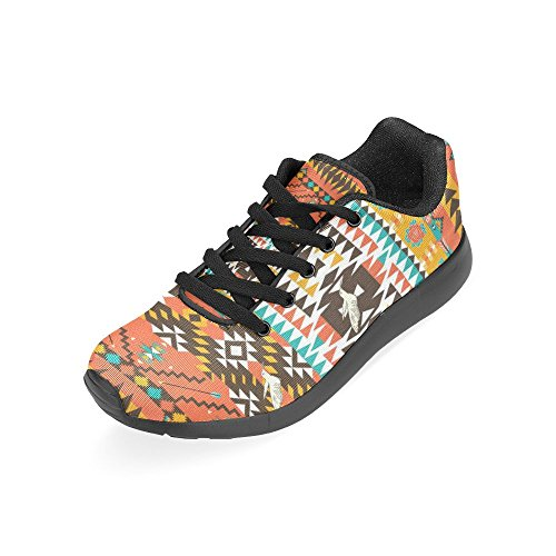Athletic Print Hot US Shoes Women's On 6 Casual Pattern 15 Running Color InterestPrint Lightweight Size Sneakers Aztecs 1PwBIWq
