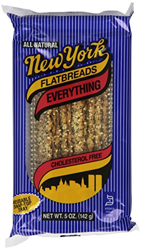 New York Flatbreads, Everything, 5 Ounce (Pack of 12)
